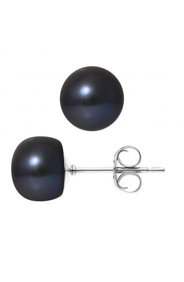 Boucles d'Oreilles Argent & Perles
