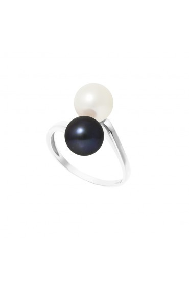 Bague Silver Duo Pearls