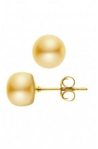 Boucles d'Oreilles Or & Perles